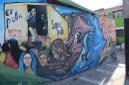 Mural en la Población La Victoria en memoria de las acciones subversivas.