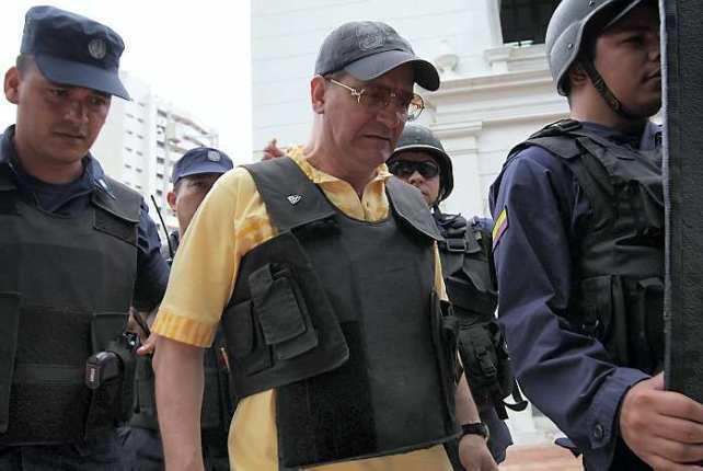 Audiencia publica del comandante paramilitar Ernesto Baez en el edificio nacional