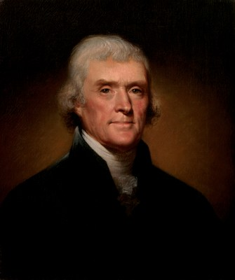 Thomas Jefferson Official Portrait - The Periodic Table of the Presidents