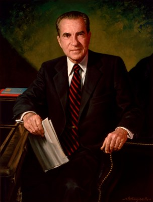 Richard Nixon Official Portrait - The Periodic Table of the Presidents