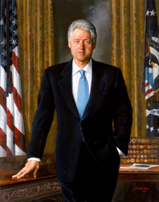 Bill Clinton Official Portrait - The Periodic Table of the Presidents