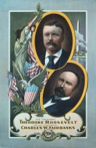 26 Teddy Roosevelt, For President, Theodore Roosevelt, lithograph published by Roesch (Louis) Co., 1904