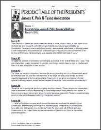 James K. Polk & Texas Annexation Lesson Thumbnail