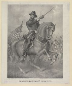 General Benjamin Harrison - Come on boys - Battle of Resaca - May 13th to 16th 1864