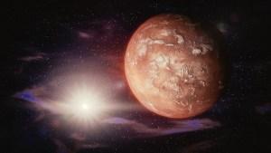 La sonda Mars Express capta un cráter gigante repleto de hielo en Marte