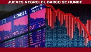Los mercados viven su peor día desde 1987