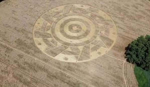 Aparece un extraño círculo de los cultivos con un patrón geométrico perfecto en un campo de Alemania