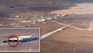 Un piloto fotografía un ovni triangular en el Área 51