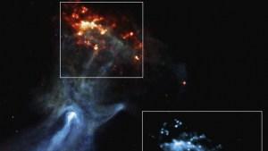 Una gigantesca 'mano' fantasmal se extiende por el espacio en una nueva imagen de rayos X