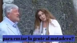 Una actriz italiana desmonta el guión de una televisión que la contrata para hacer un anuncio a favor de la vacunación