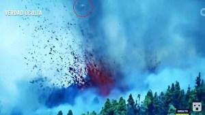 Objeto desconocido se acerca a la espectacular erupción en Canarias