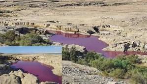 El agua se vuelve roja cerca del seco Mar Muerto en Jordania ¿Signos del fin los tiempos?