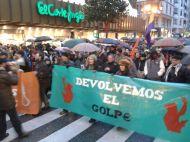 Parte de la marcha de los manifestantes el 23-F. Imagen de Mar Rodríguez