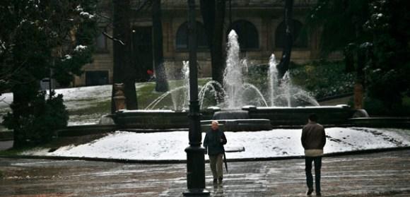 13/03/13 OVIEDO.NIEVE.FOTO:PABLO LORENZANA..................