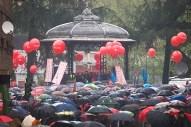 Final de la manifestación en Langreo. Imagen de Javier Rodríguez Alonso