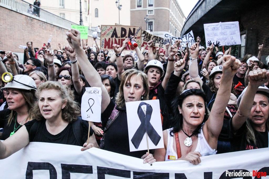 protesta mineras senado madrid