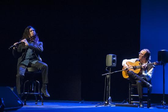Flamenco Universal. Círculo de bellas Artes. Pepe Habichuela y Jorge Pardo. Foto Manuel Montaño