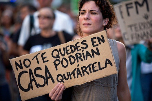 Movilizaciones contra los deshaucios en España