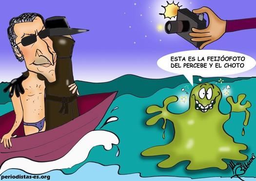 La foto del confiado Alberto Núñez Feijóo