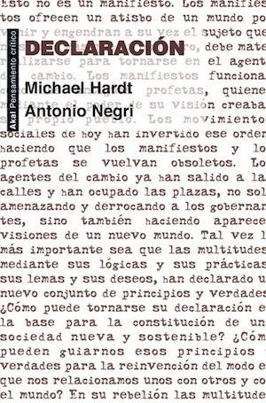 Resultado de imagen de <i>Declaración</i>, de Michael Hardt y Antonio Negri