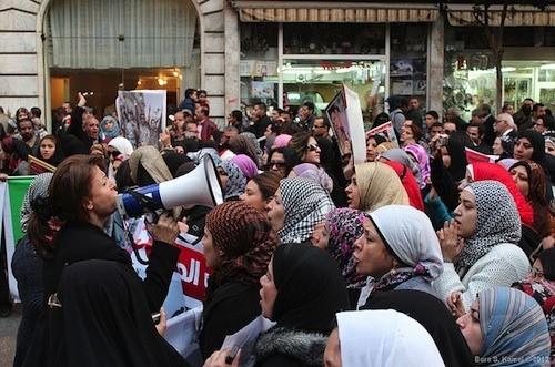 Las mujeres participaron en la Primavera Arabe