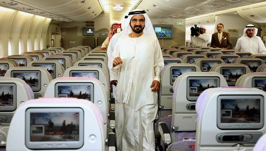 Emirates, cabina pasajeros
