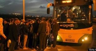 Israel lanza una línea de autobuses para palestinos