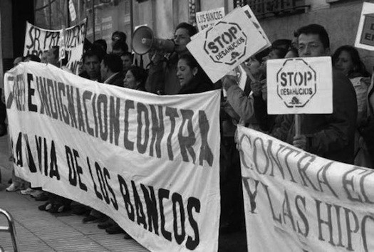 Ecuatorianos en lucha contra los desahucios en España