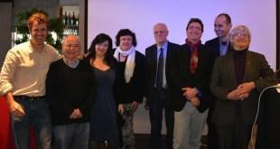 De izquierda a derecha: Urs Thalmann (Switzerland), Paco Audije (España), Daniela Stigliano (Italy), Vice-President Nadezda Azhgikhina (Russia), President Mogen Blicher Bjerregard (Denmark), Andreas Bittner (Germany), Yannis Kotsifos (Greece), and Barry White (UK). Agnieskza Romaszewska (Poland) no aparece en la foto.