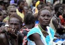 Mujeres burle en Sudan del sur