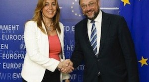 Susana Díaz y Martin Schulz