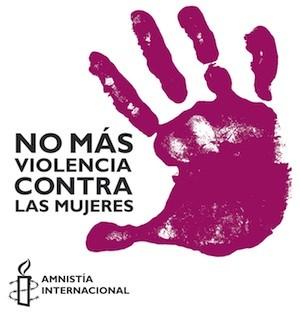 Cartel de Amnistía Internacional contra la violencia de género