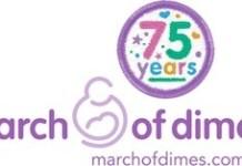 March of Dimes 75th Anniversary Logo. (PRNewsFoto/March of Dimes)