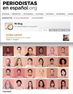 """Pablo Medel, """"¿Color carne?"""", en Periodistas en Español, 01_10_12"""