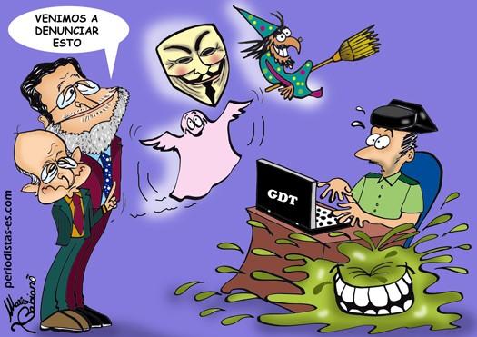 La denuncia, el Grupo de Delitos Telemáticos y Mucus