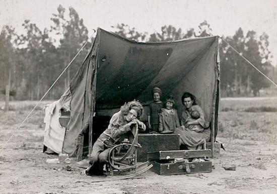 """Dorothea Lange Migrant Mother secuencia 1 """"Madre migrante"""" o el respeto como paradigma (1)"""