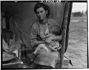 """Dorothea Lange Migrant Mother secuencia 3 """"Madre migrante"""" o el respeto como paradigma (1)"""