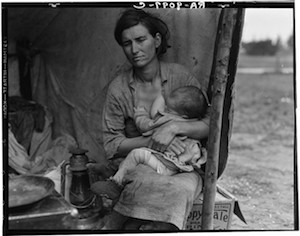 "© Dorothea Lange. ""Migrant Mother"". Secuencia 3/6"
