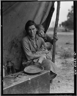 "© Dorothea Lange. ""Migrant Mother"". Secuencia 4/6"