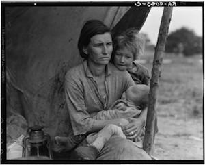 "© Dorothea Lange. ""Migrant Mother"". Secuencia 5/6"