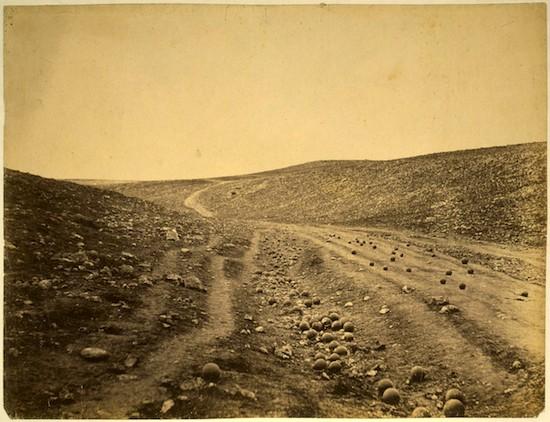 "Roger Fenton. ""Sombra del valle de la muerte"". Guerra de Crimea (1853-1856)"