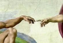 Dios y Adán. Miguel Ánge