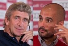 Manuel Pellegrini y Pep Guardiola. image.net. foto Getty Images