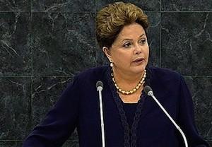 Dilma Rousseff interviene ante la Asamblea General de la ONU en septiembre de 2013