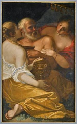 Lot y sus hijas. Atribuido a Alessandro Varotari (1600-1630). Colección Fundación Dinastía Vivanco.