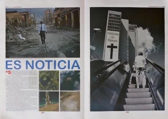 Doble página central del periódico 'Puerta Abierta', otoño de 2010