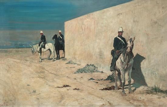 De guardia, de Giovanni Fattori