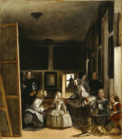 Las Meninas, boceto de Velázquez, pintura Martínez del Mazo. The Bankes Collection
