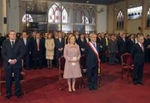 El presidente chileno Sebastián Piñera Echenique, en el Tedeum Evangélico 2012