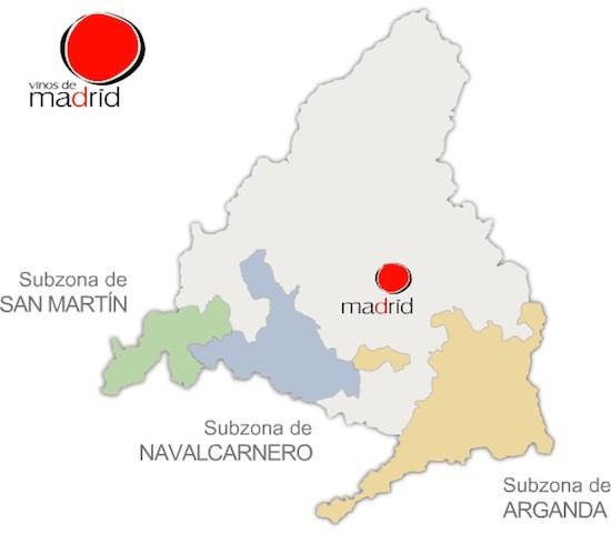 Vinos de Madrid. Subzonas de Arganda, Navalcarnero y San Martín de Valdeiglesias